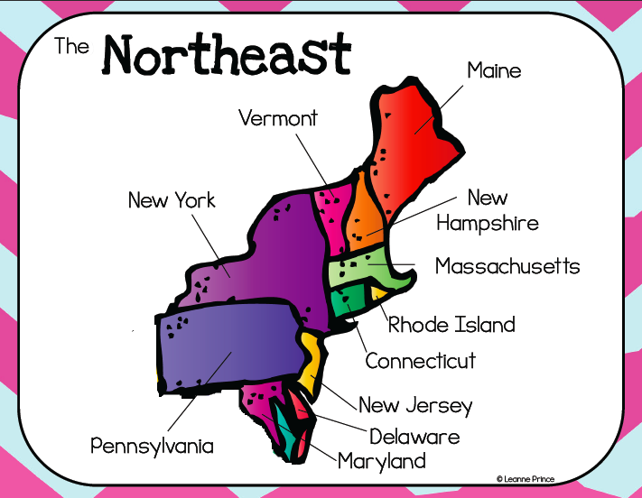 Map Of The Northeast Region  My blog